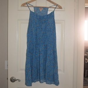 Mossimo Floral Blue Dress Size XL